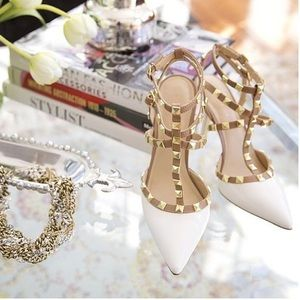 "BCBGeneration Shoes - Bcbgeneration ""Darron"" spike stud heel white"